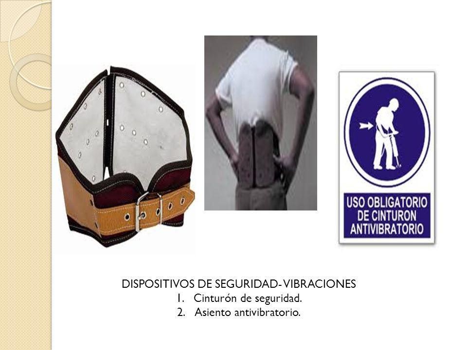 DISPOSITIVOS DE SEGURIDAD- VIBRACIONES Cinturón de seguridad.