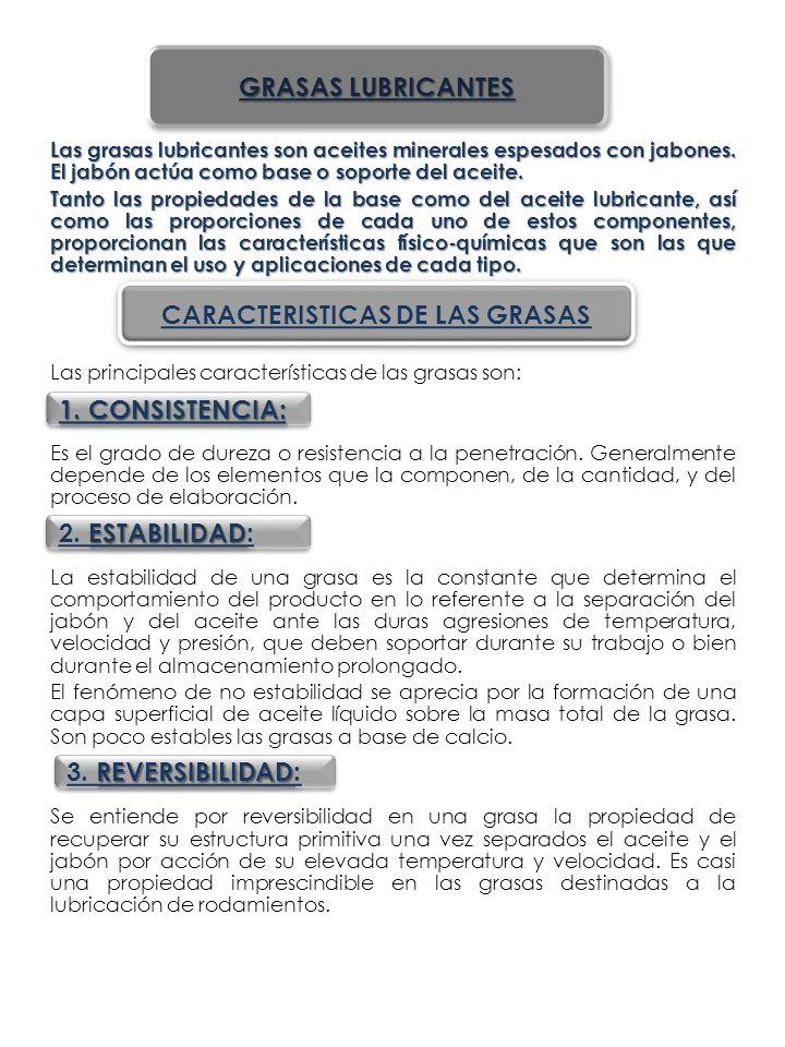 CARACTERISTICAS DE LAS GRASAS