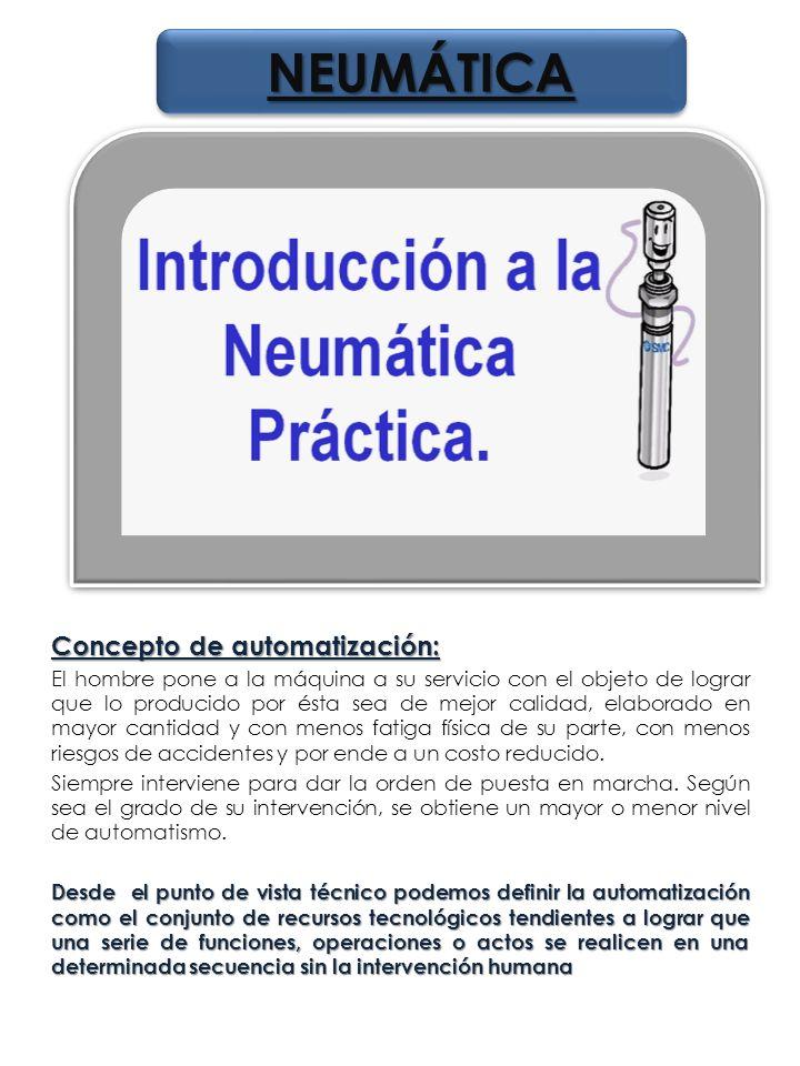 NEUMÁTICA Concepto de automatización:
