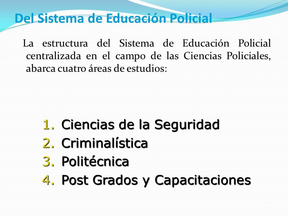 Del Sistema de Educación Policial