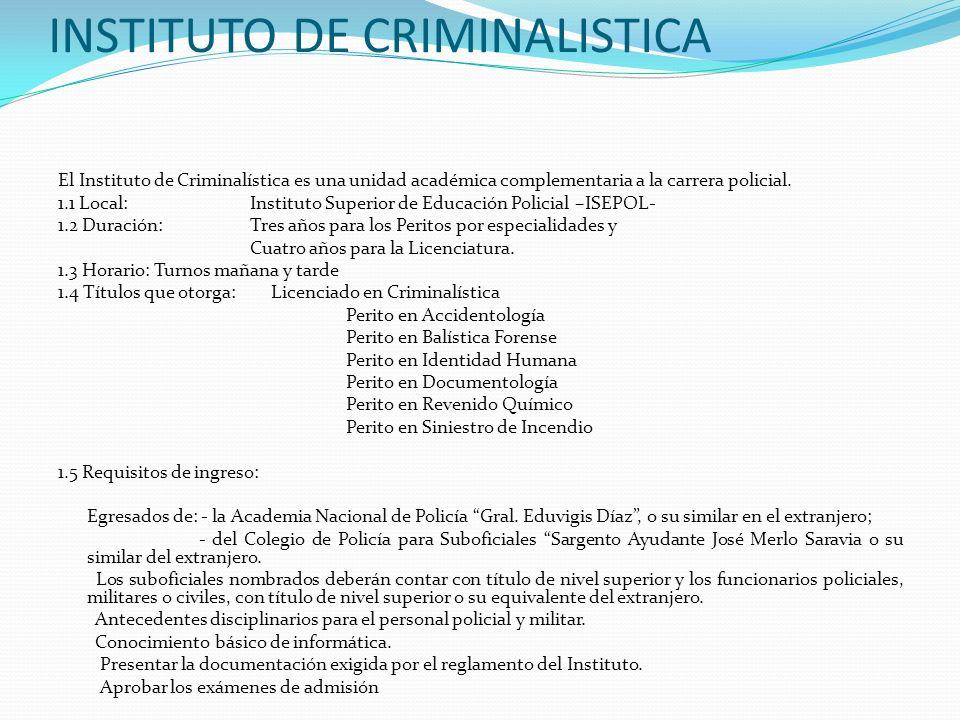 INSTITUTO DE CRIMINALISTICA