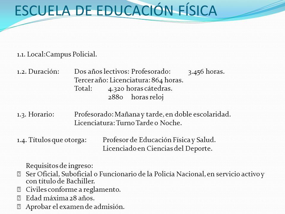 ESCUELA DE EDUCACIÓN FÍSICA