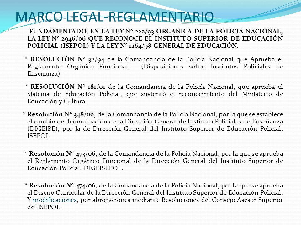 MARCO LEGAL-REGLAMENTARIO