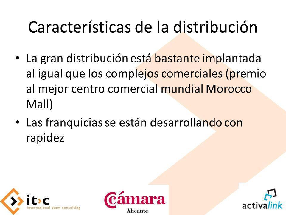 Características de la distribución