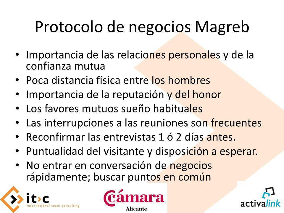 Protocolo de negocios Magreb