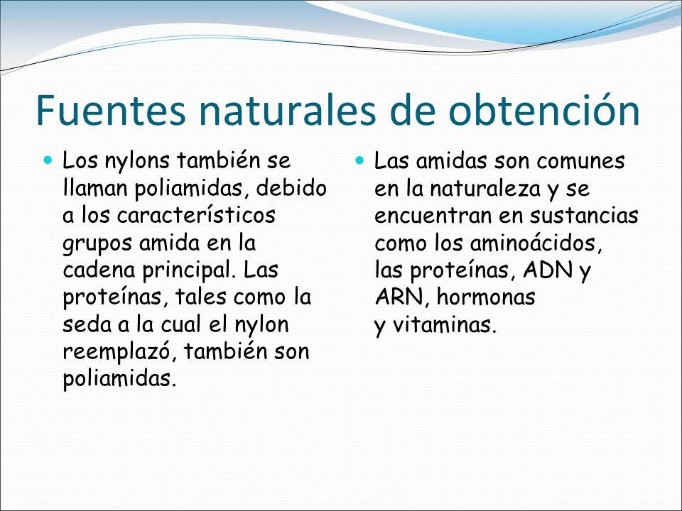 Fuentes naturales de obtención