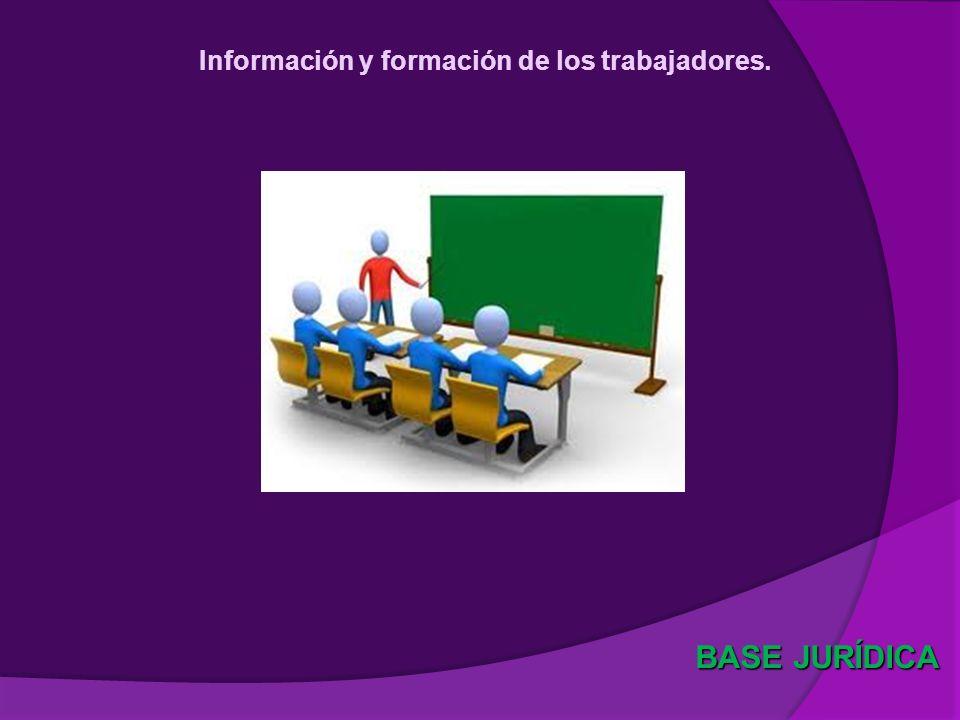 Información y formación de los trabajadores.