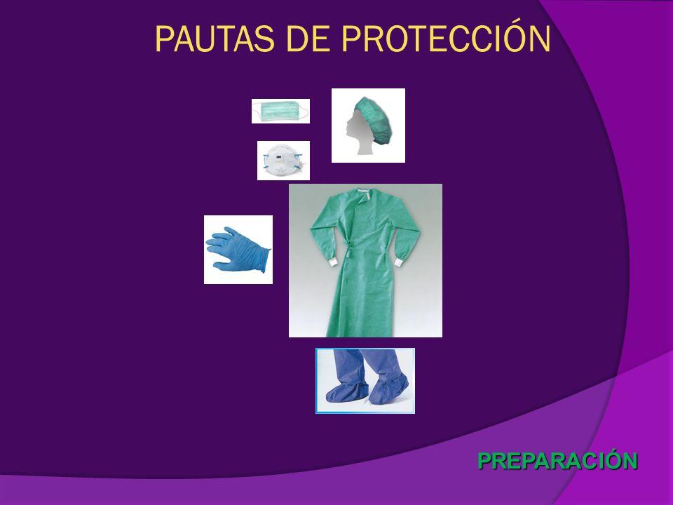 PAUTAS DE PROTECCIÓN PREPARACIÓN