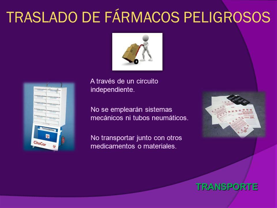 TRASLADO DE FÁRMACOS PELIGROSOS