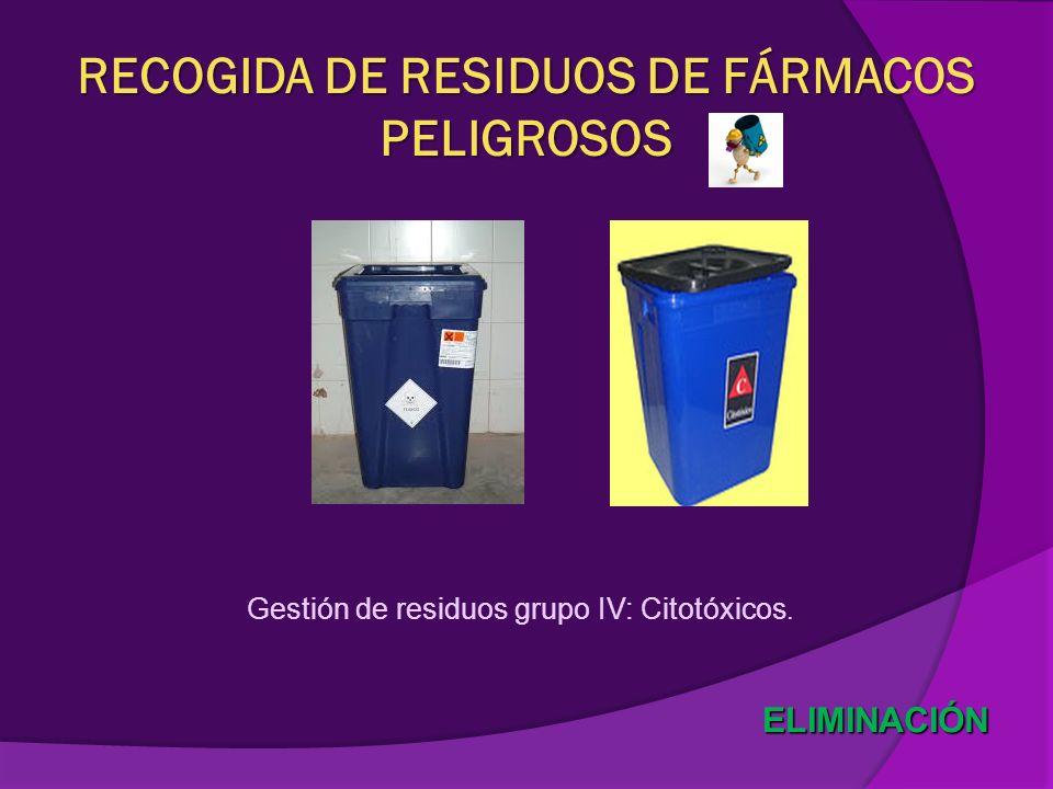 RECOGIDA DE RESIDUOS DE FÁRMACOS PELIGROSOS
