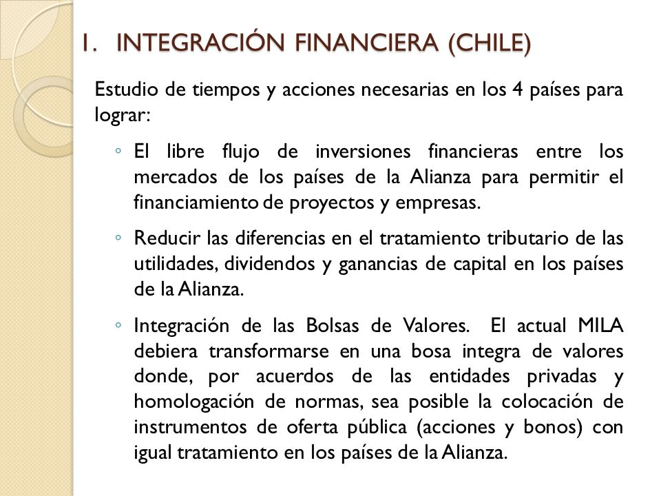 INTEGRACIÓN FINANCIERA (CHILE)