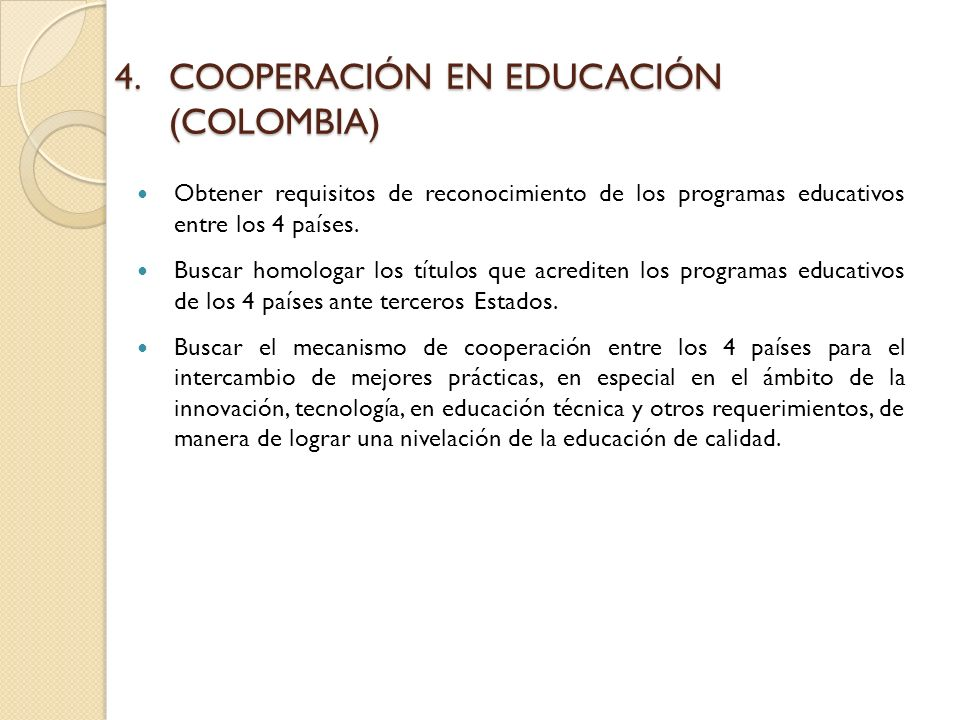 COOPERACIÓN EN EDUCACIÓN (COLOMBIA)