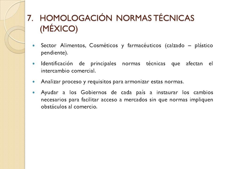 HOMOLOGACIÓN NORMAS TÉCNICAS (MÉXICO)