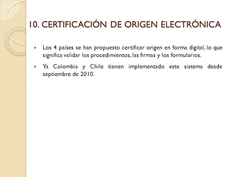 CERTIFICACIÓN DE ORIGEN ELECTRÓNICA