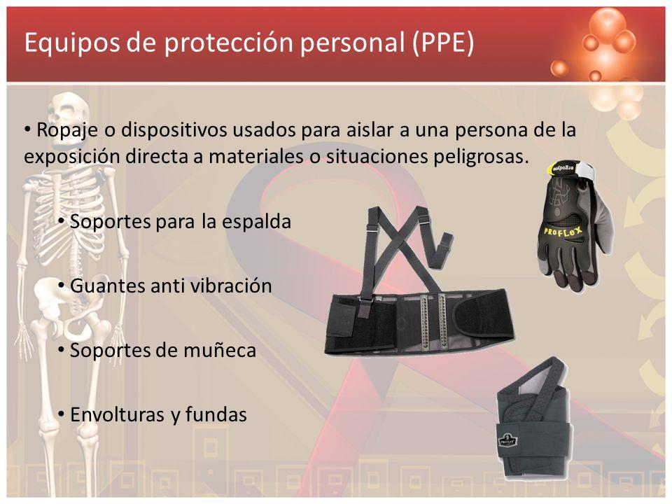 Equipos de protección personal (PPE)