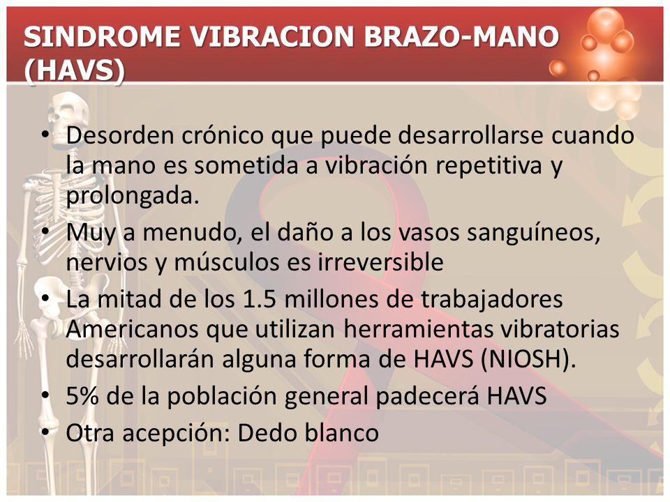 SINDROME VIBRACION BRAZO-MANO (HAVS)