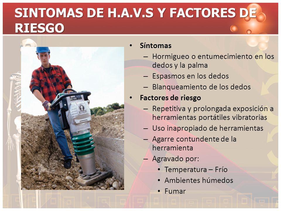 SINTOMAS DE H.A.V.S Y FACTORES DE RIESGO