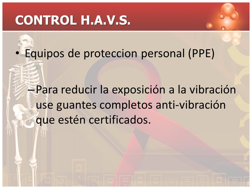 CONTROL H.A.V.S. Equipos de proteccion personal (PPE)