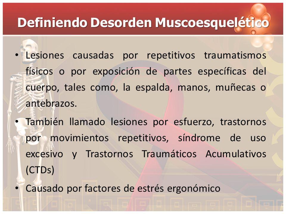 Definiendo Desorden Muscoesquelético