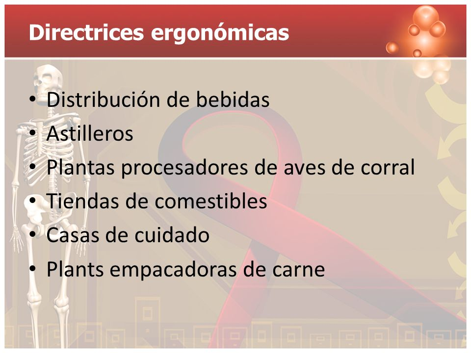 Directrices ergonómicas