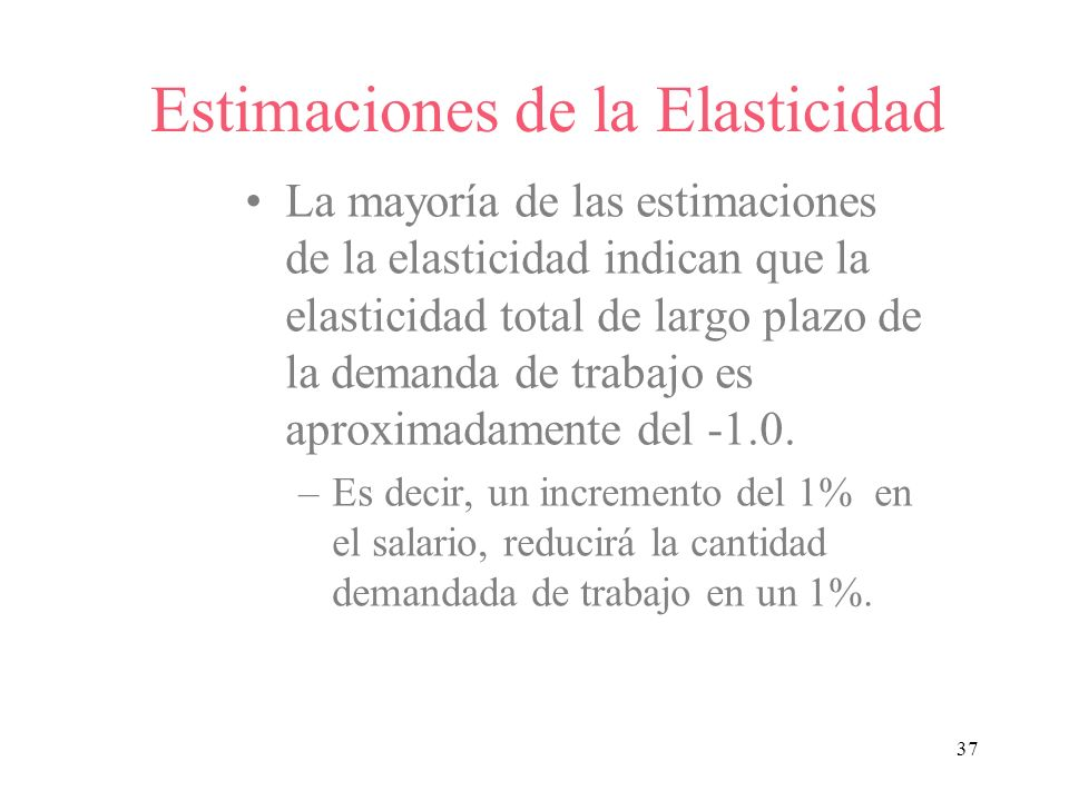 Estimaciones de la Elasticidad