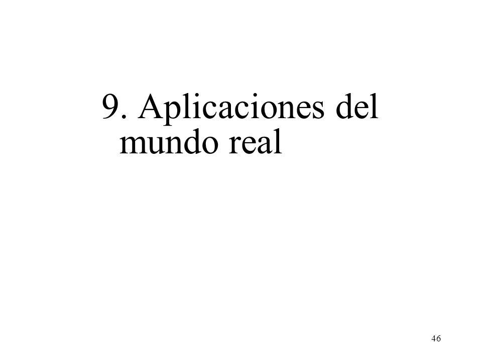 9. Aplicaciones del mundo real