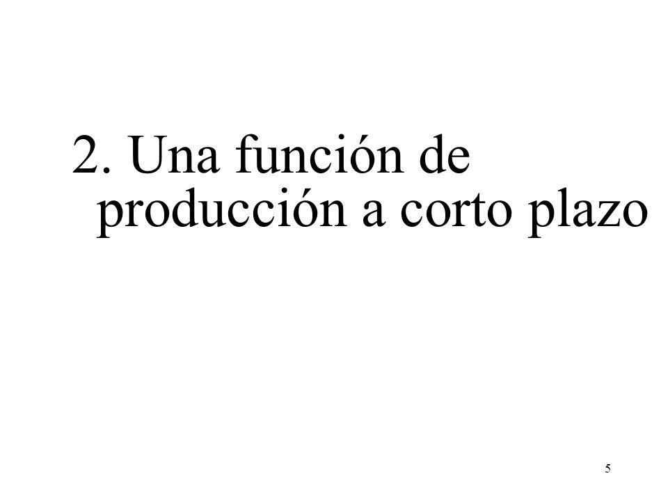 2. Una función de producción a corto plazo