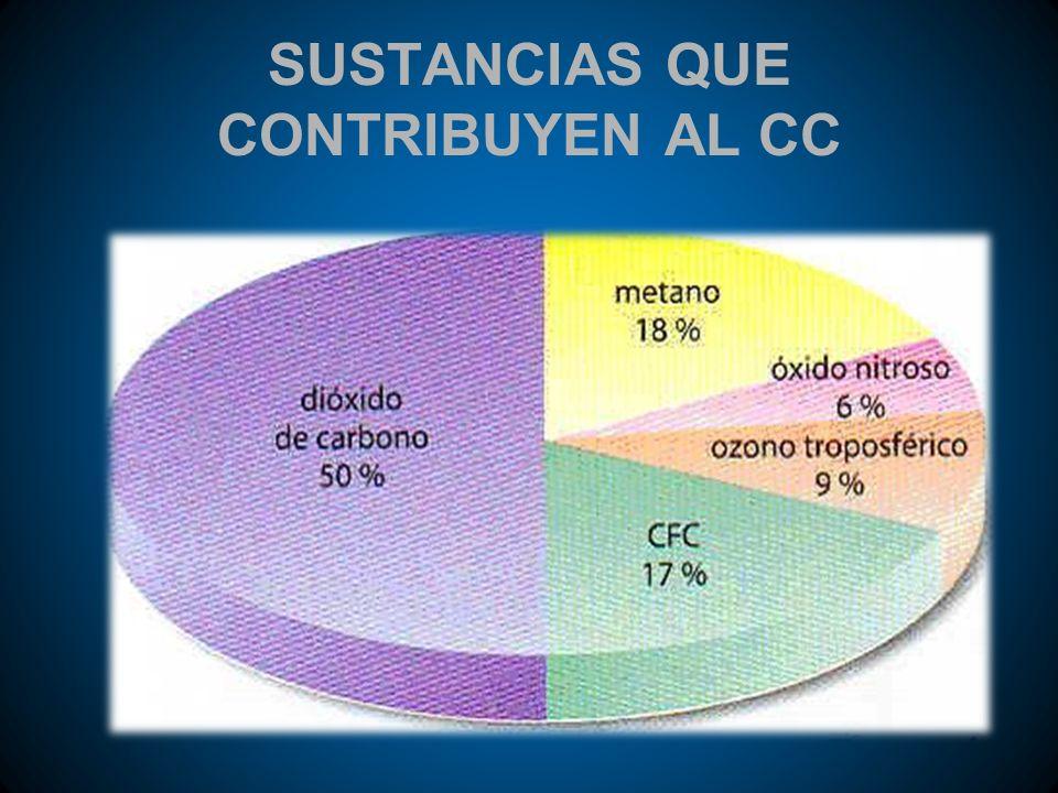 SUSTANCIAS QUE CONTRIBUYEN AL CC