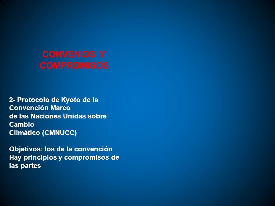 CONVENIOS Y COMPROMISOS 2- Protocolo de Kyoto de la Convención Marco