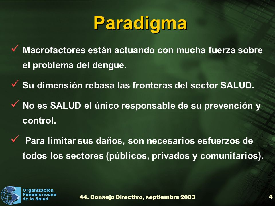 44. Consejo Directivo, septiembre 2003