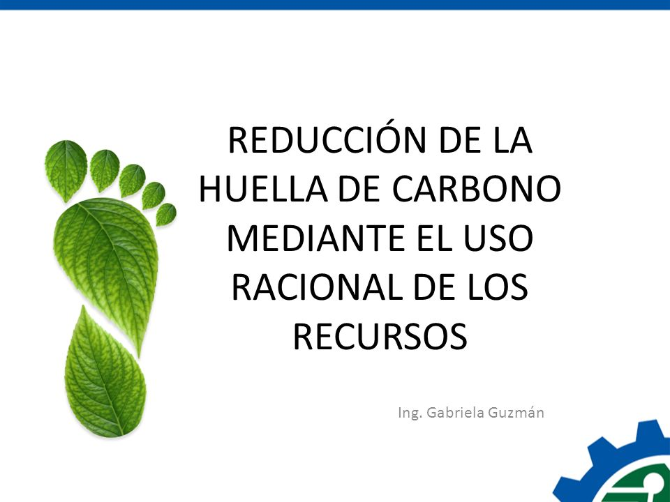 REDUCCIÓN DE LA HUELLA DE CARBONO MEDIANTE EL USO RACIONAL DE LOS RECURSOS
