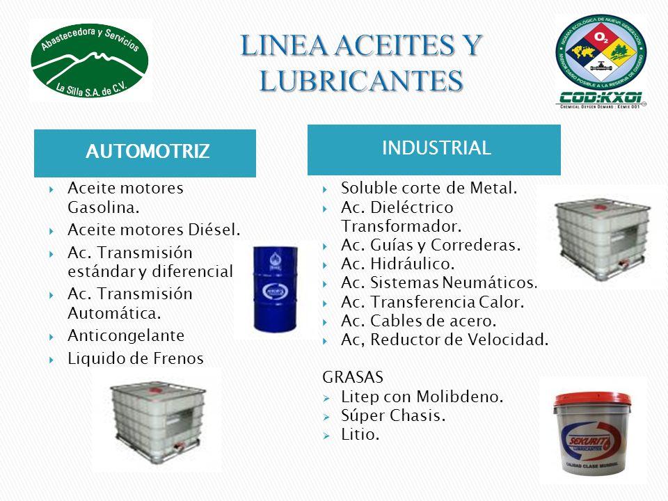 LINEA ACEITES Y LUBRICANTES