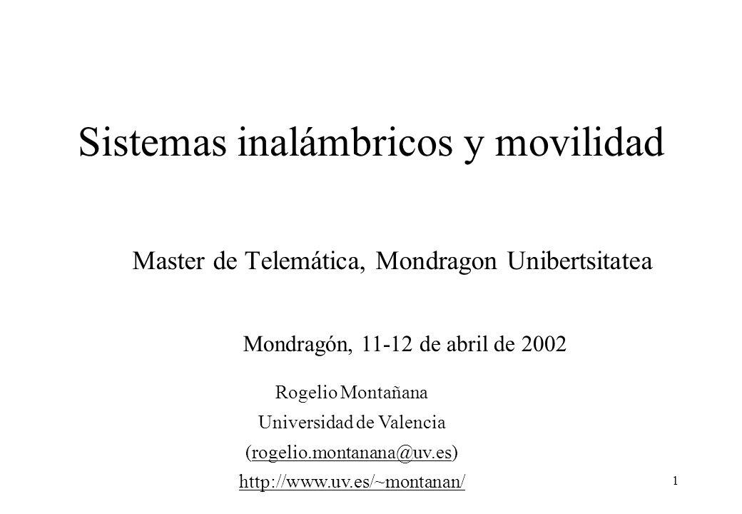 Sistemas inalámbricos y movilidad