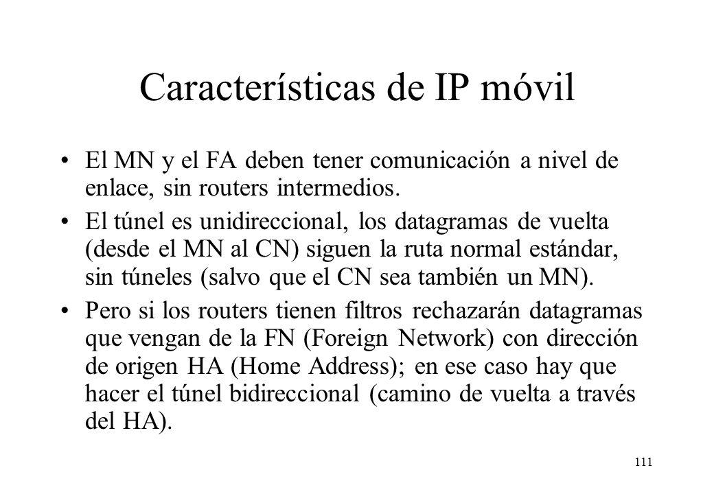 Características de IP móvil