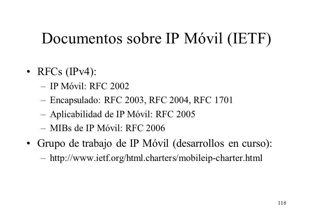 Documentos sobre IP Móvil (IETF)