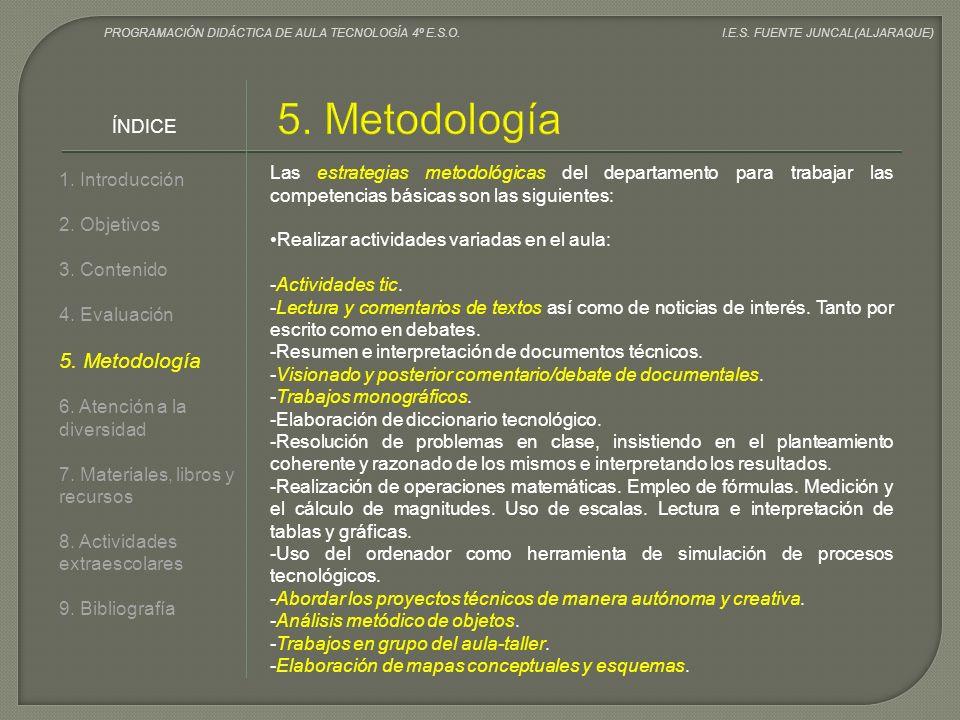 5. Metodología 5. Metodología ÍNDICE