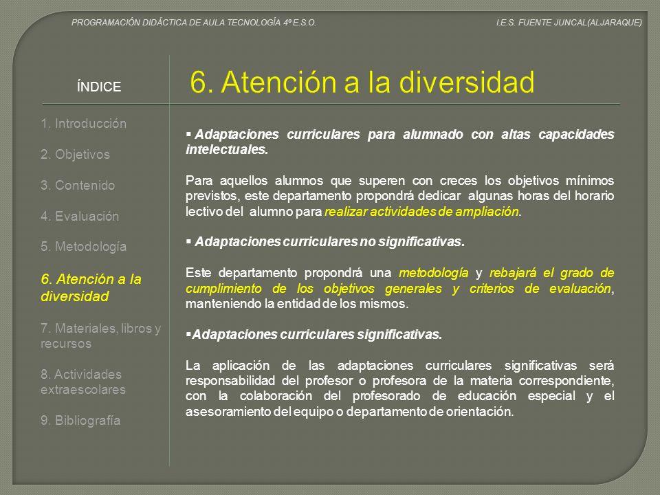 6. Atención a la diversidad