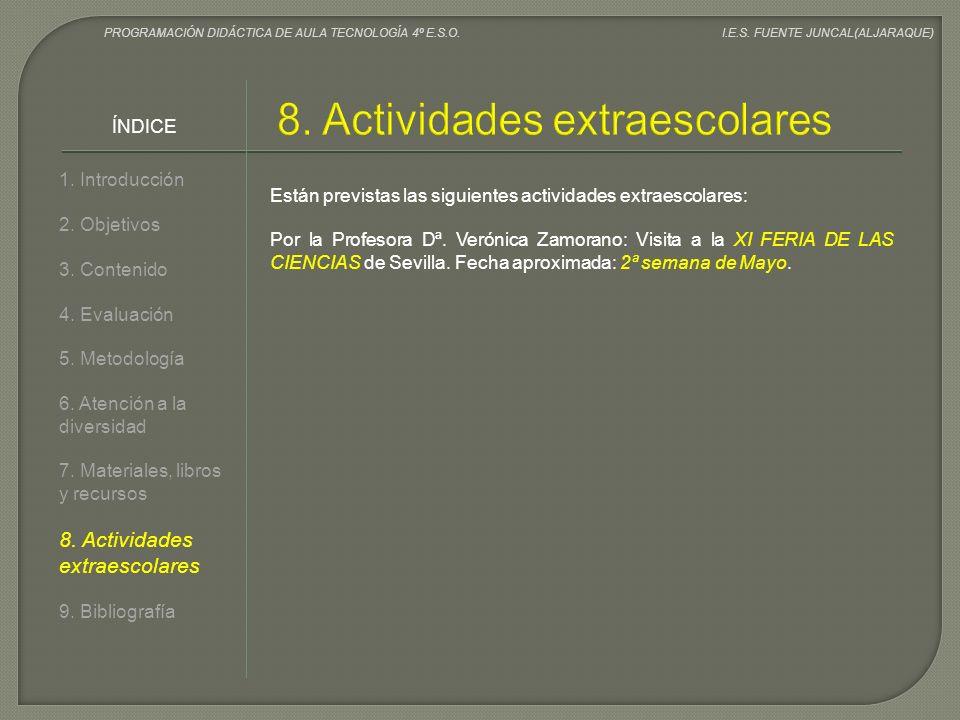 8. Actividades extraescolares