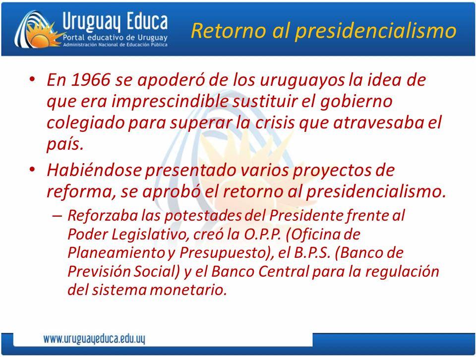 Retorno al presidencialismo