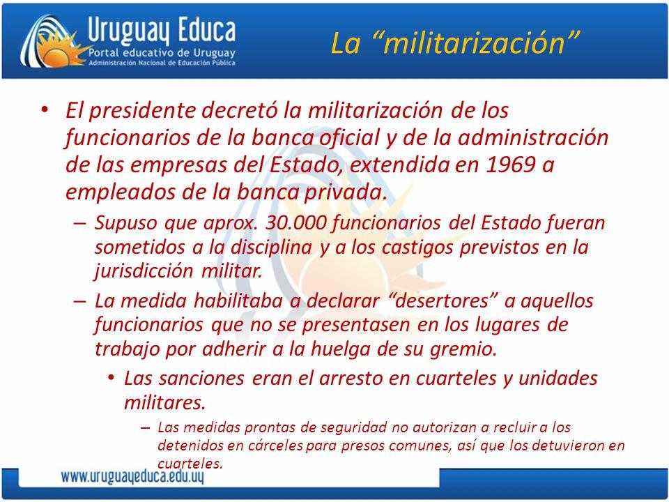 La militarización