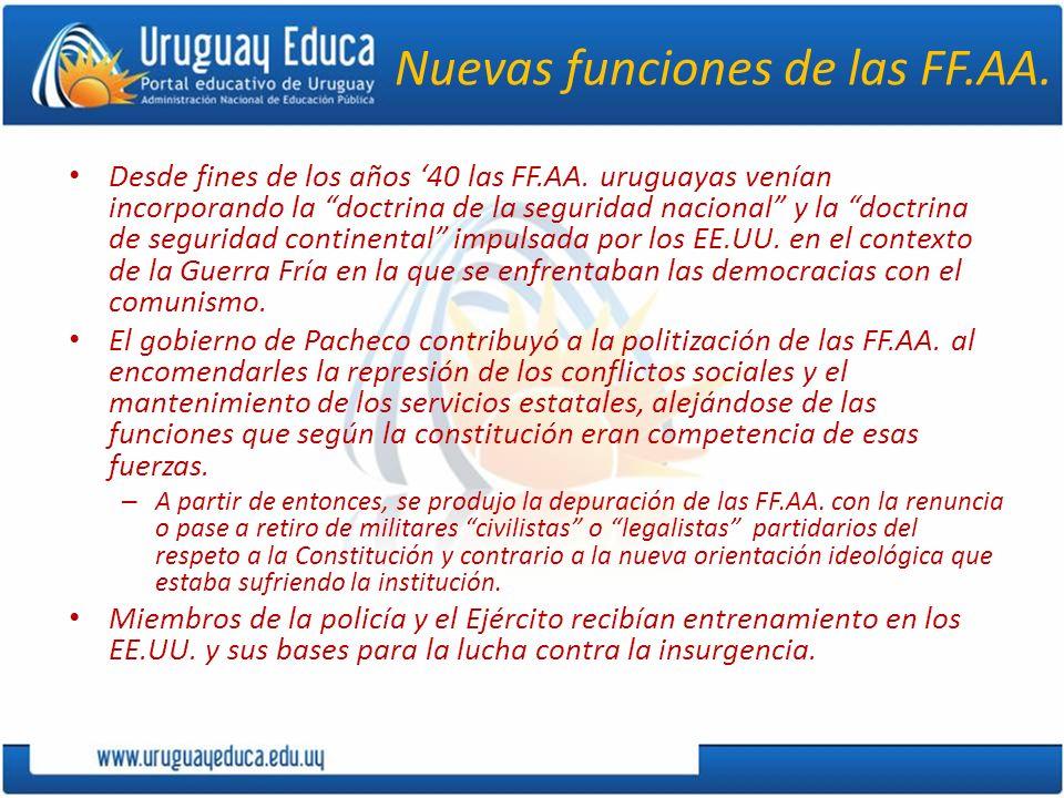 Nuevas funciones de las FF.AA.