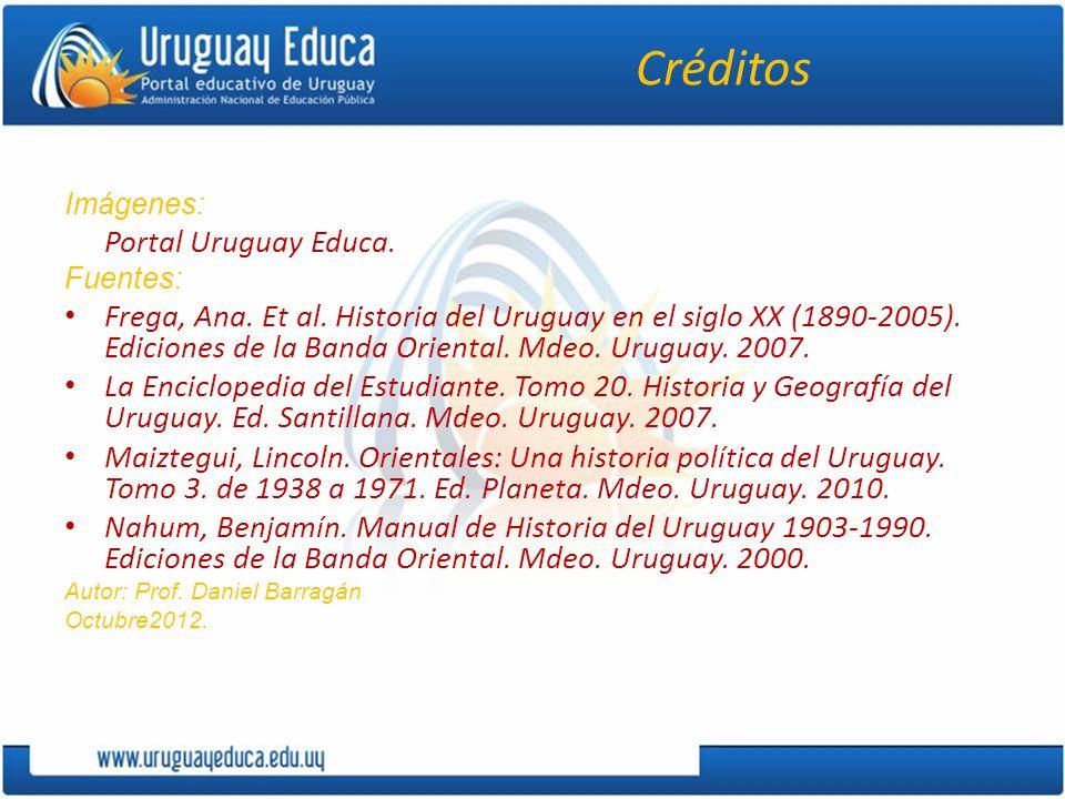 Créditos Imágenes: Portal Uruguay Educa. Fuentes: