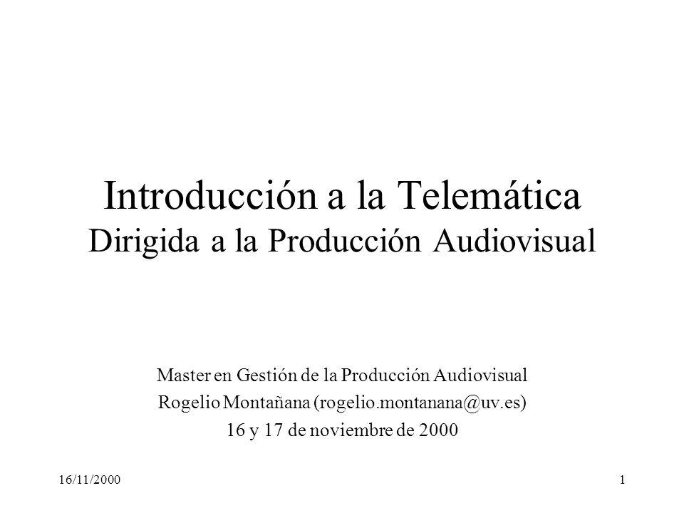 Introducción a la Telemática Dirigida a la Producción Audiovisual