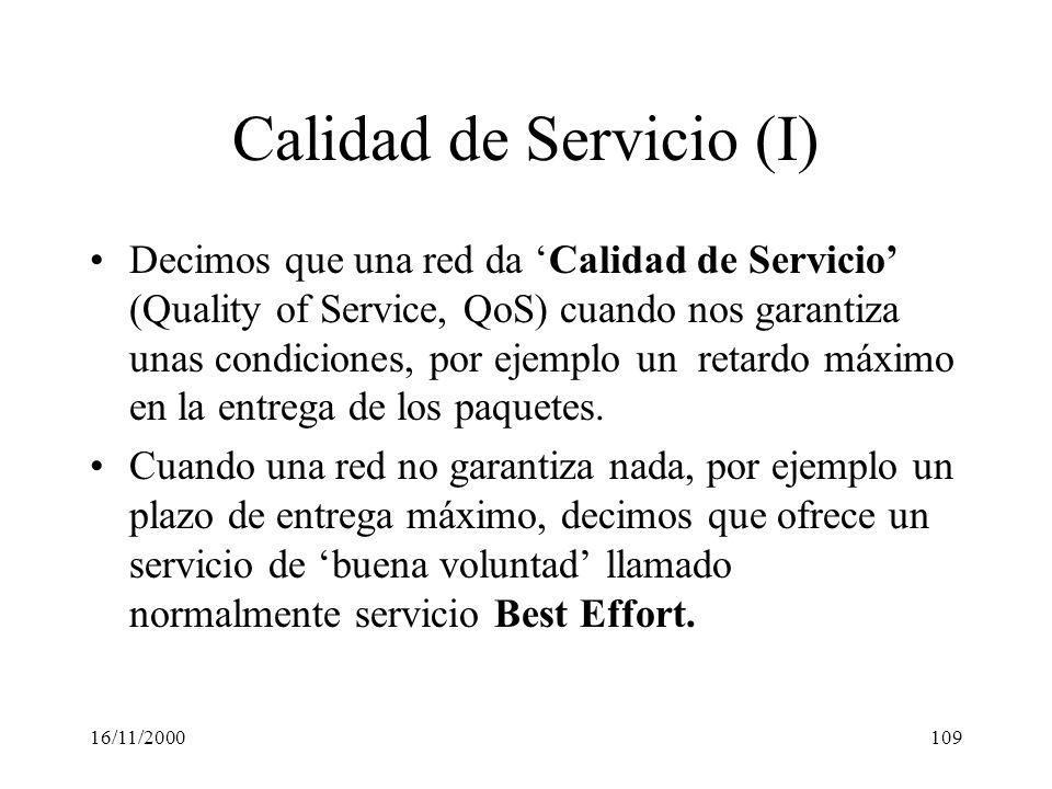 Calidad de Servicio (I)