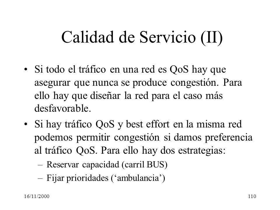 Calidad de Servicio (II)