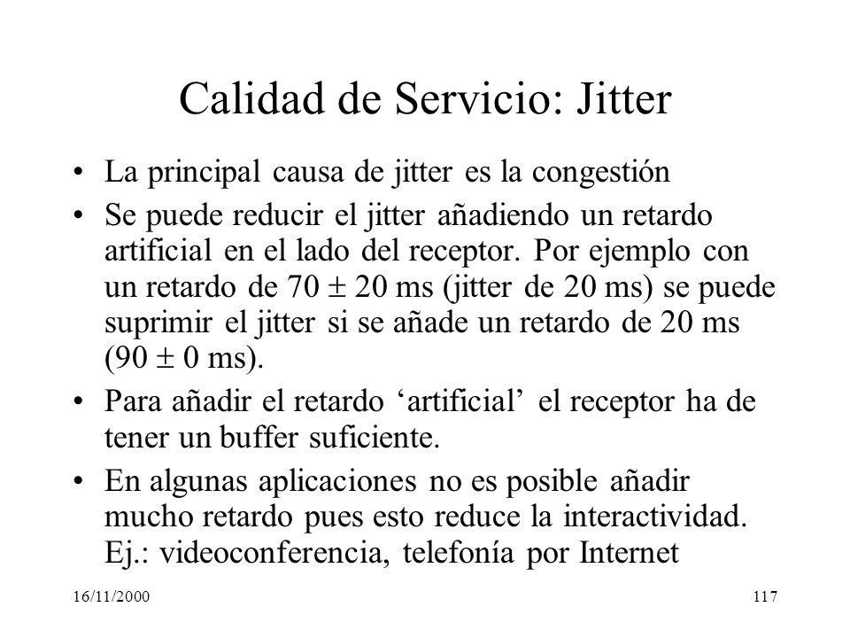 Calidad de Servicio: Jitter