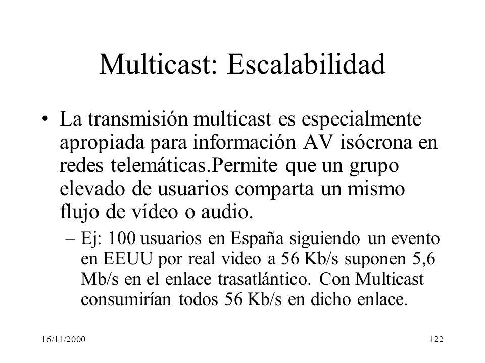 Multicast: Escalabilidad