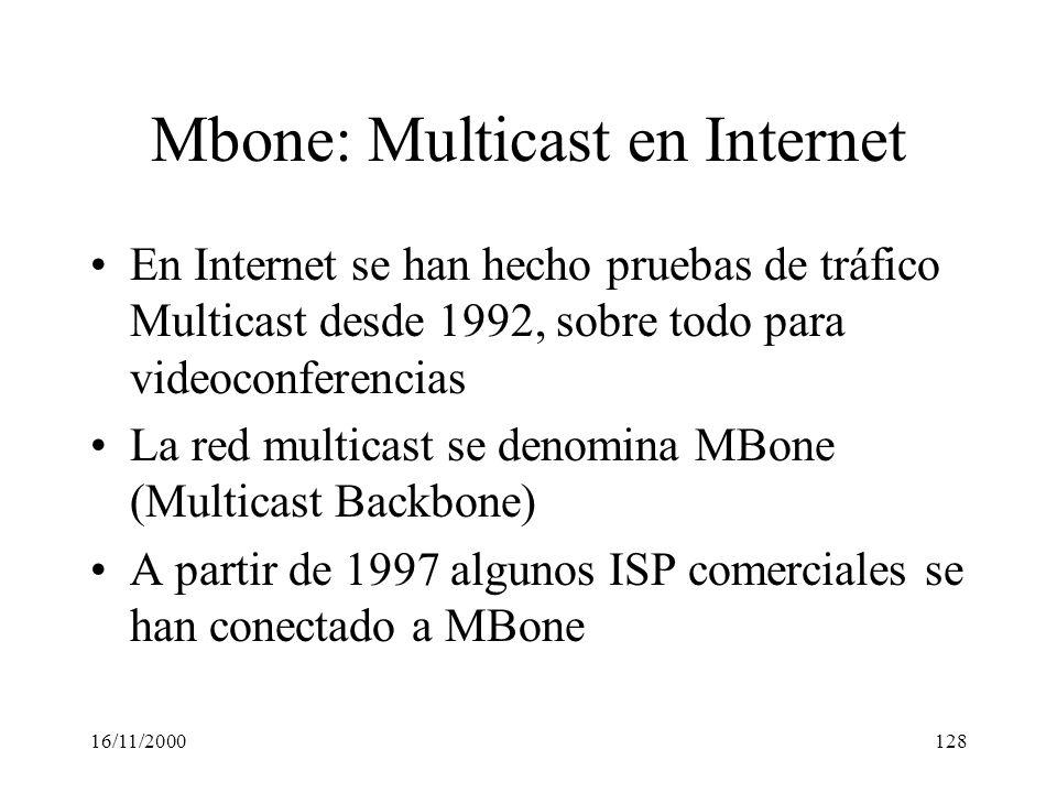 Mbone: Multicast en Internet