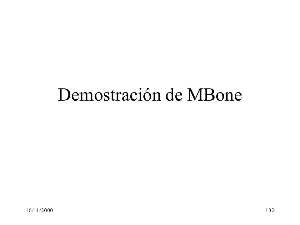 Demostración de MBone 16/11/2000