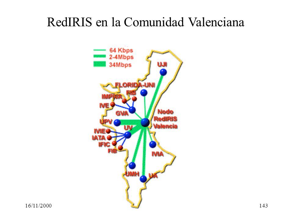 RedIRIS en la Comunidad Valenciana